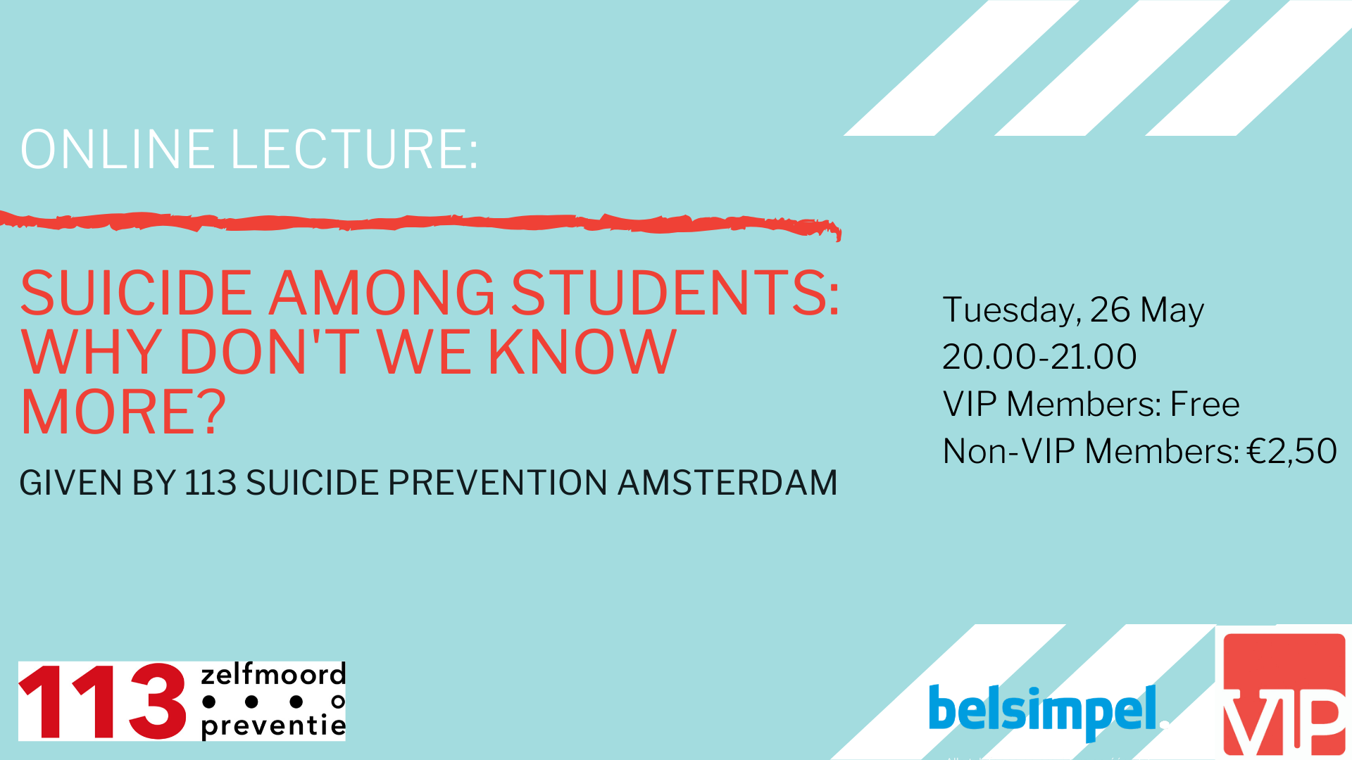 Online Lecture: Suicide among students: why don't we know more?