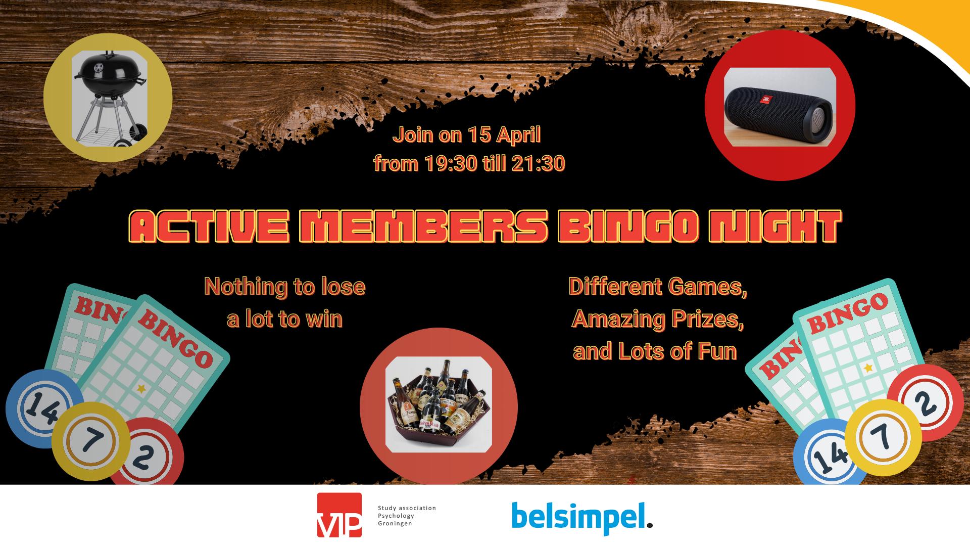 VIP: Active Members Bingo