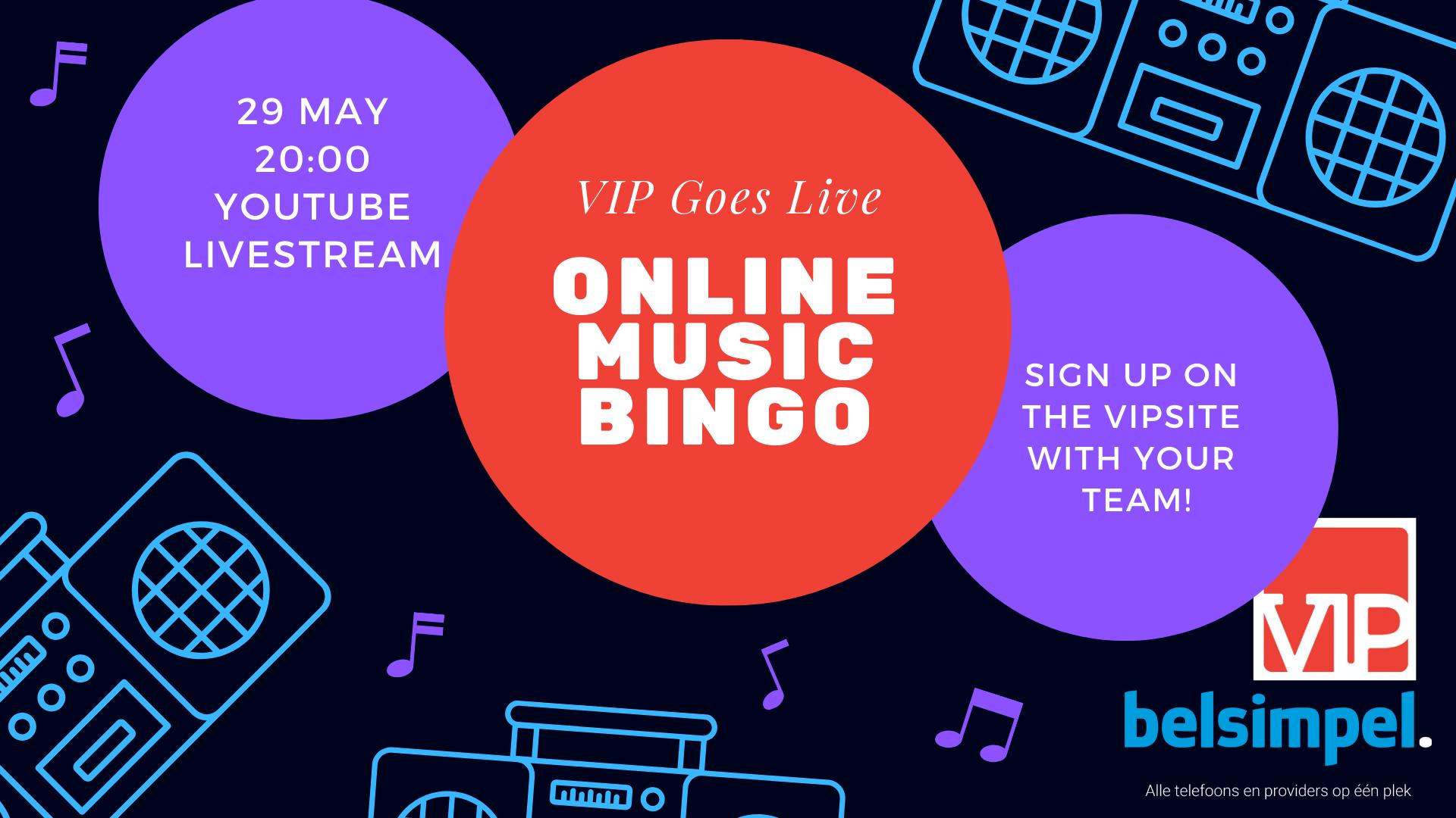 VIP goes live: Online Music Bingo