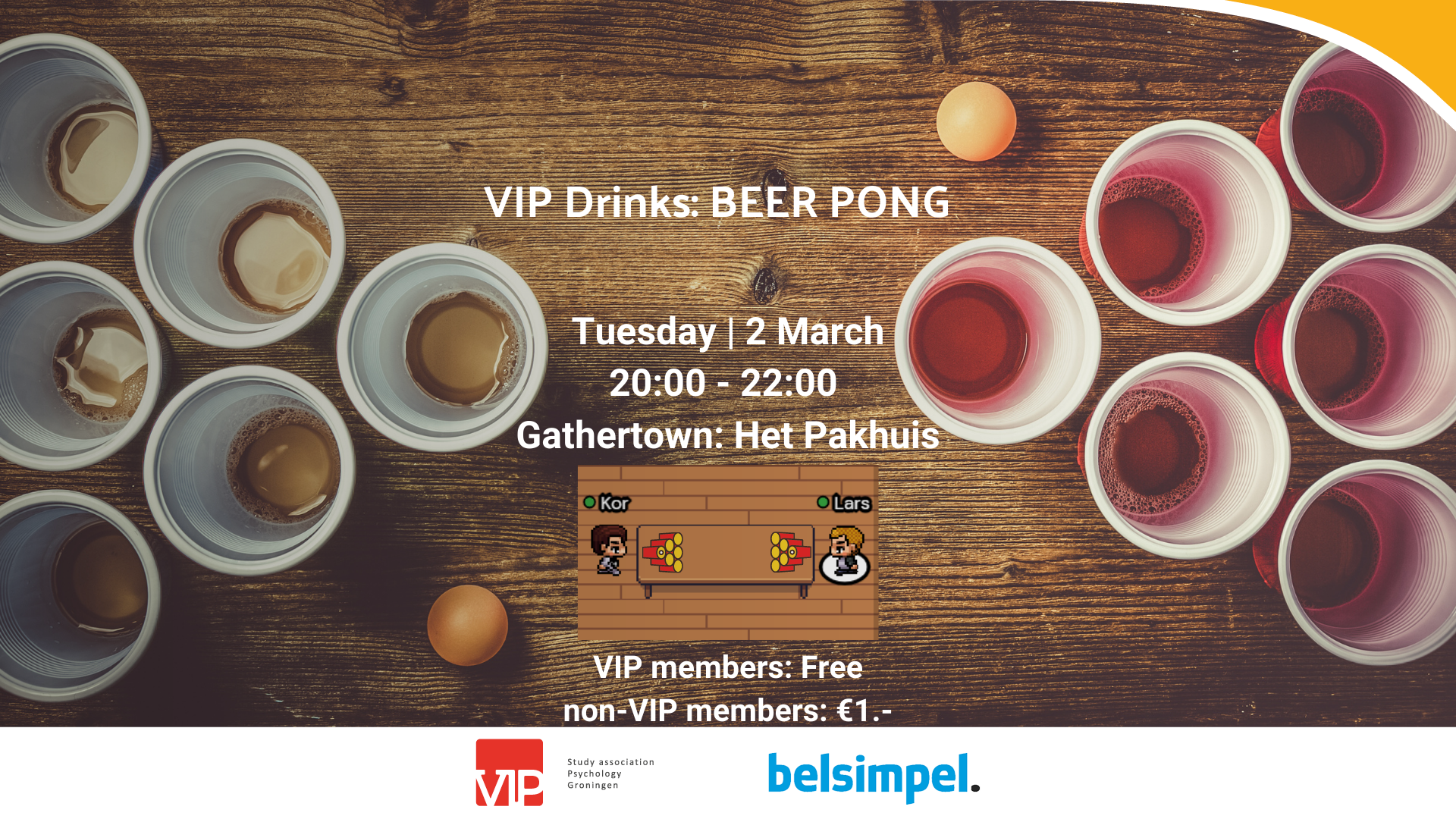 VIP Drinks: Beer Pong